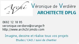 Publicité Architecte 2V Véronique de Verdière